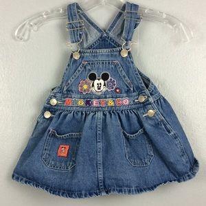 Mickey & Co Disney Toddler Girls Denim Jumper 2T